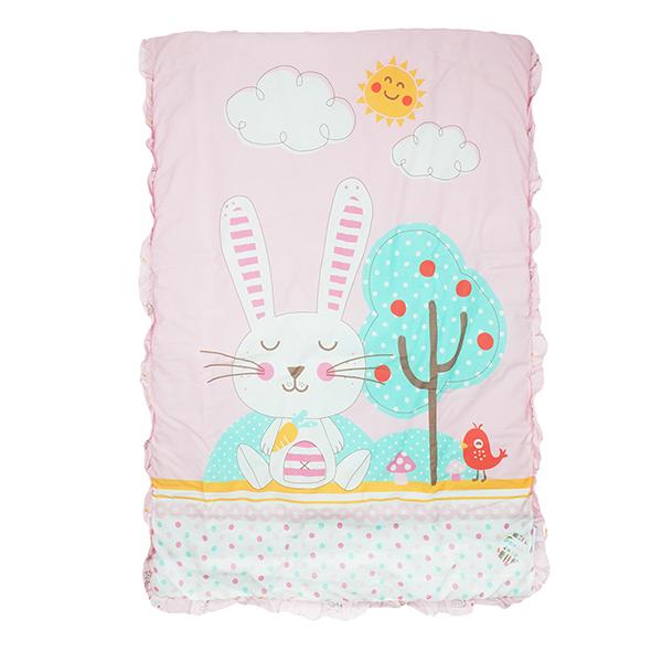 ผ้าห่ม Cute Rabbit สีชมพู
