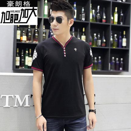 [พร้อมส่ง] เสื้อยืด 7XL แฟชั่นเกาหลีสำหรับผู้ชายไซส์ใหญ่ แขนสั้น เก๋ เท่ห์ - [In Stock] Large Size Men 7XL Korean Hitz Short-sleeved T-Shirt