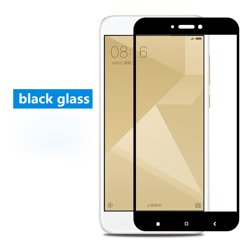 Xiaomi Redmi 4X ฟิล์มกระจกนิรภัยเต็มจอ 9H+ (ขอบดำ)
