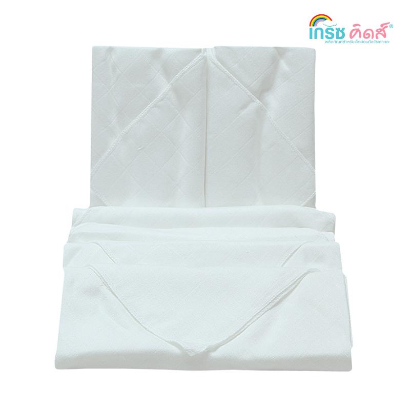 เกรซคิดส์ผ้าอ้อมเยื่อไผ่เนื้อนิ่ม ขาวล้วน ขนาด 27x27นิ้ว ยกลัง(6 แพ็ค)