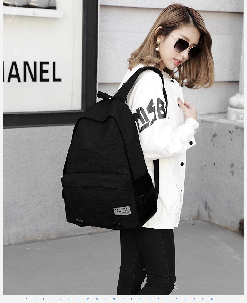 Simple color canvas bag (สีดำ)