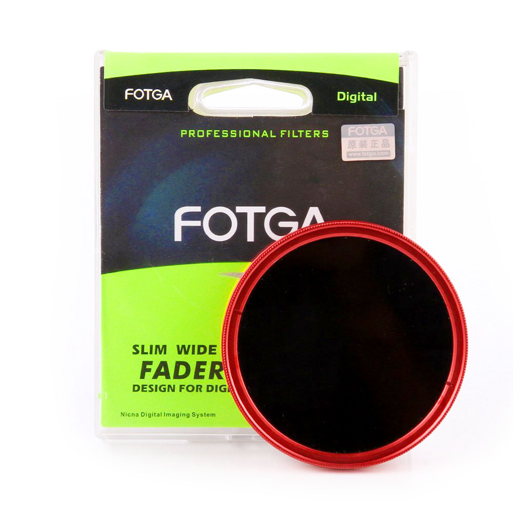 Filter 46 mm FOTGA Slim Fader ND2 to ND400 - Red Ring