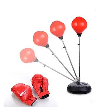 อุปกรณ์ชกมวย เป้าชก punching-ball ออกกำลังกาย ปรับความสูงได้