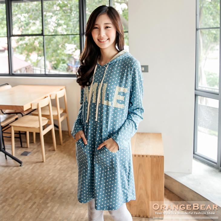 พรีออเดอร์ เสื้อแจ๊คเก็ตแฟชั่นไซต์ใหญ่ Orange Bear แขนยาว คอกลม ลายจุด เก๋ น่ารัก - Preorder Women ฺHitz Large Size Korean version Brand Orange Bear Round Neck Polka Dot Long-sleeved Jacket