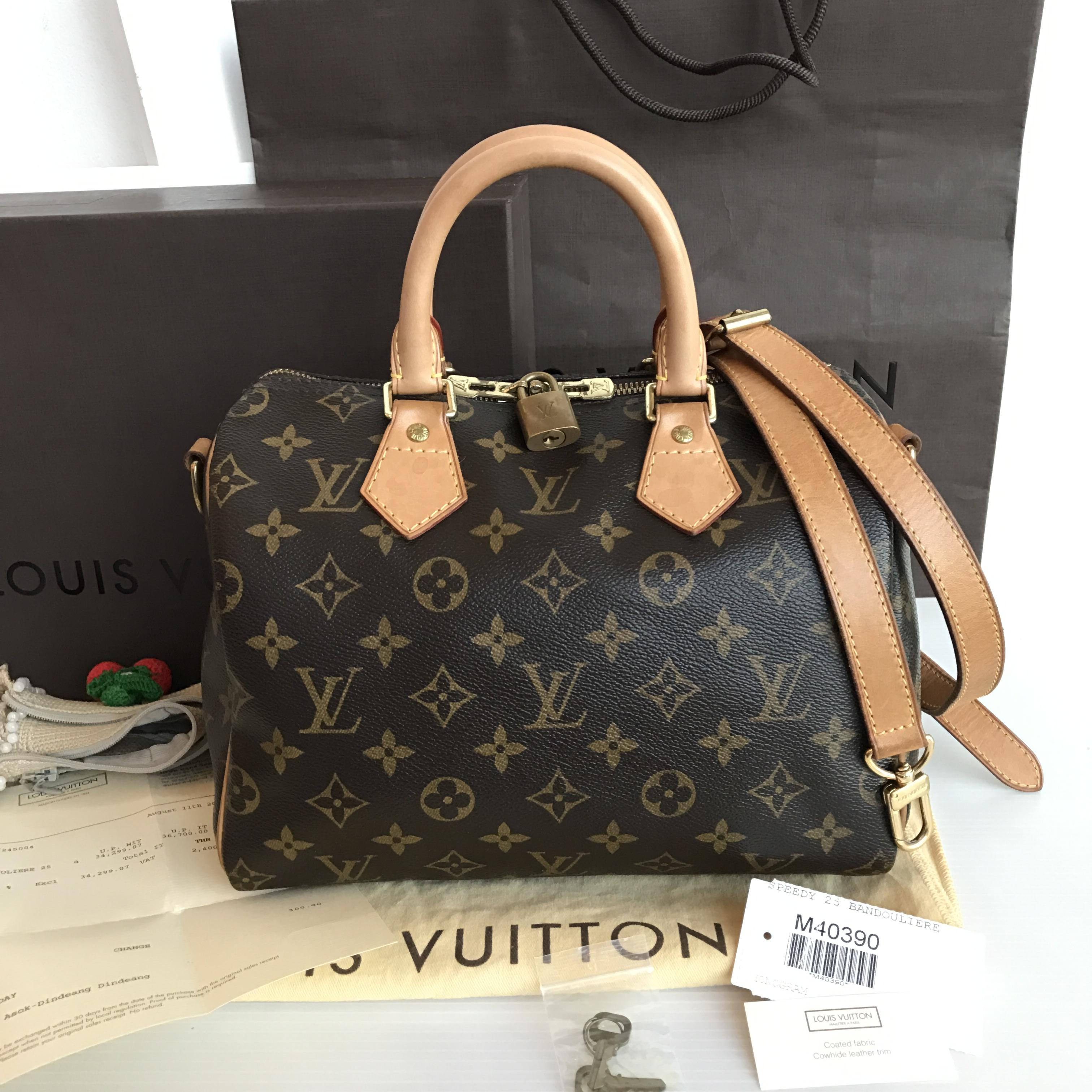 (SOLD OUT)LOUISVUITTON monogram speedy bandouliere 25
