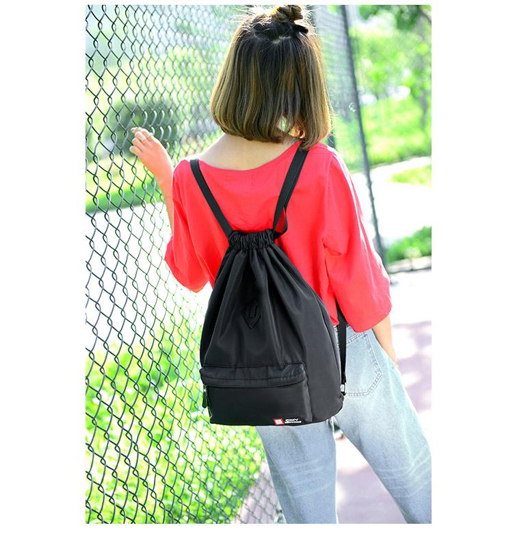 Bunny Drawstring bag (สีดำ)