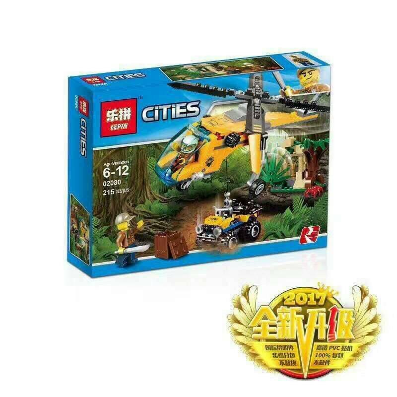 เลโก้จีน LEPIN.02080 ชุด Jungle Cargo Helicopter