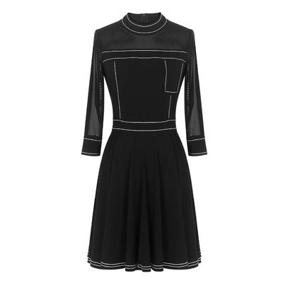 [พรีออเดอร์] ชุดเดรสผู้หญิงแฟชั่นยุโรปใหม่ แขนยาว แบบเก๋ เท่ห์ - [Preorder] New European Fashion Long-Sleeved Dress