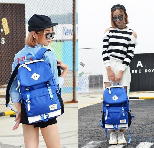 กระเป๋าเป้แฟชั่น MCJH MIKE DESIGNS (สีน้ำเงิน)