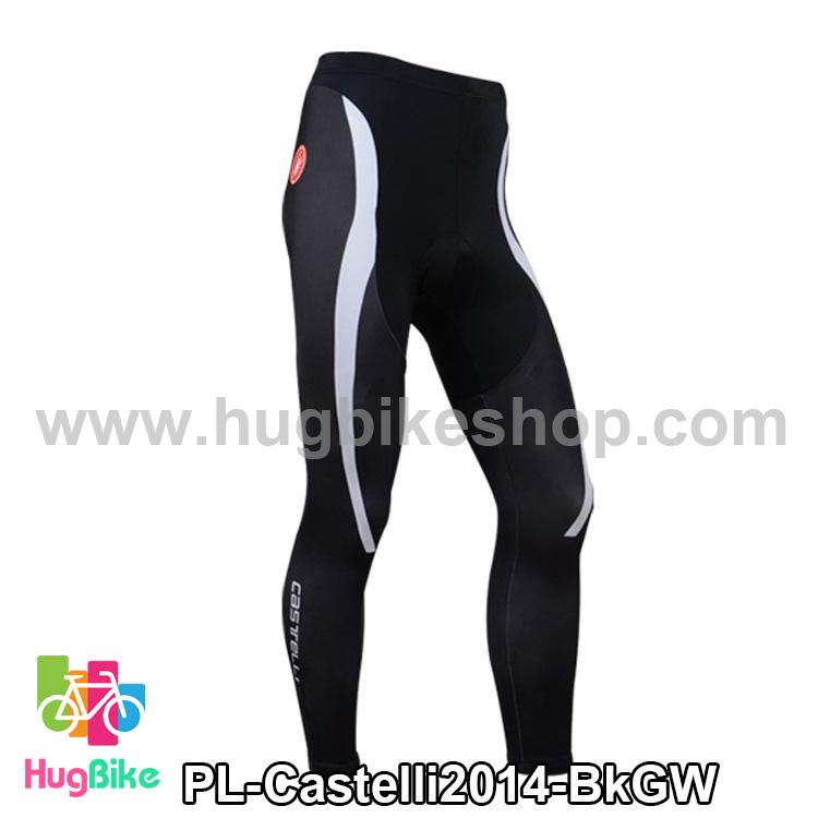กางเกงจักรยานขายาวทีม Castelli 14 สีดำเทาขาว สั่งจอง (Pre-order)