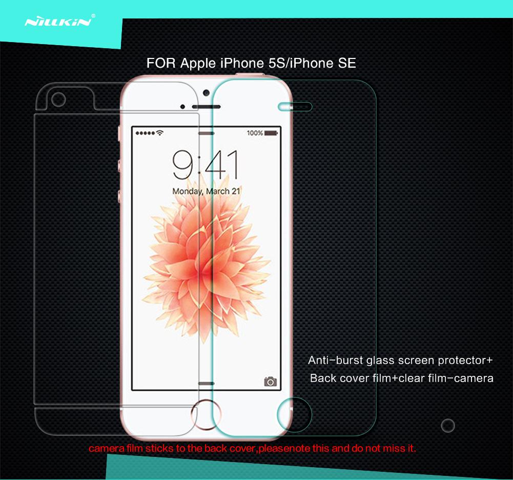 ฟิล์มกระจกนิรภัย iPhone 5S/iPhone SE