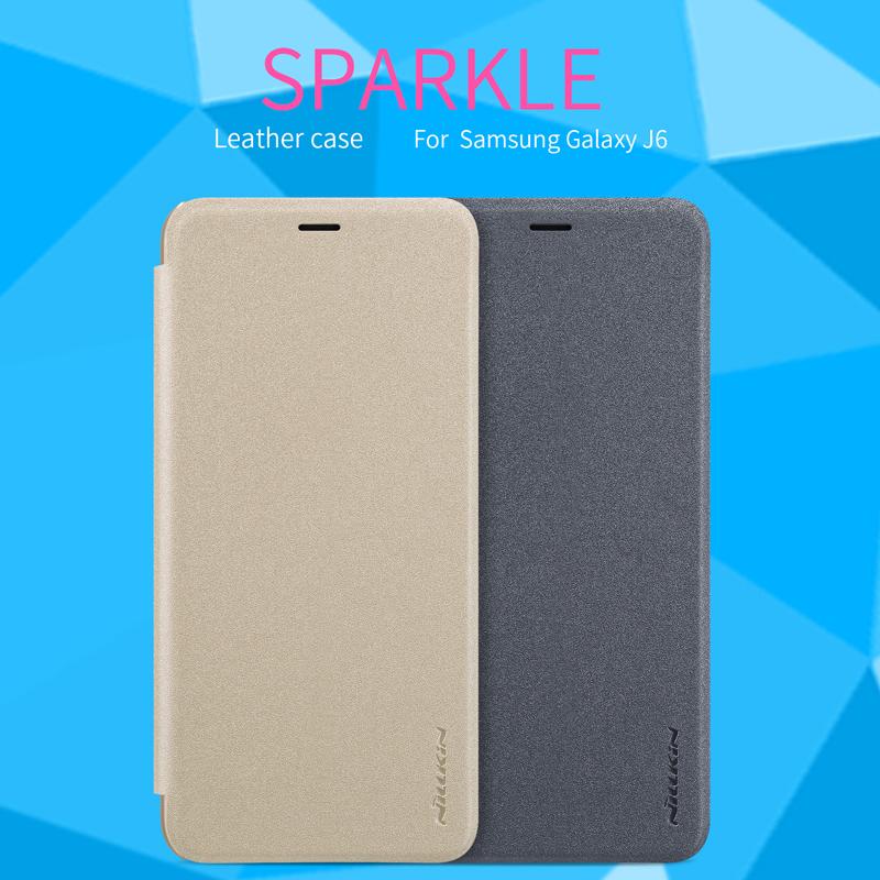 เคสมือถือ Samsung Galaxy J6 รุ่น Sparkle Leather Case