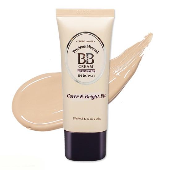 Etude House Precious Mineral BB Cream Cover & Bright Fit SPF30/PA++ 35g. #N02 Light Beige