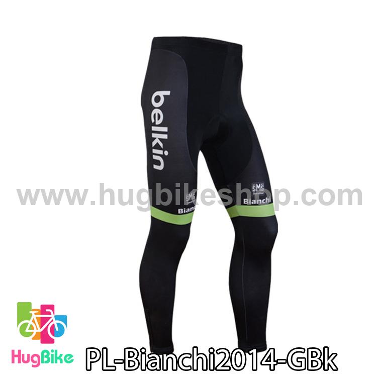 กางเกงจักรยานขายาวทีม Bianchi 14 สีเขียวดำ สั่งจอง (Pre-order)
