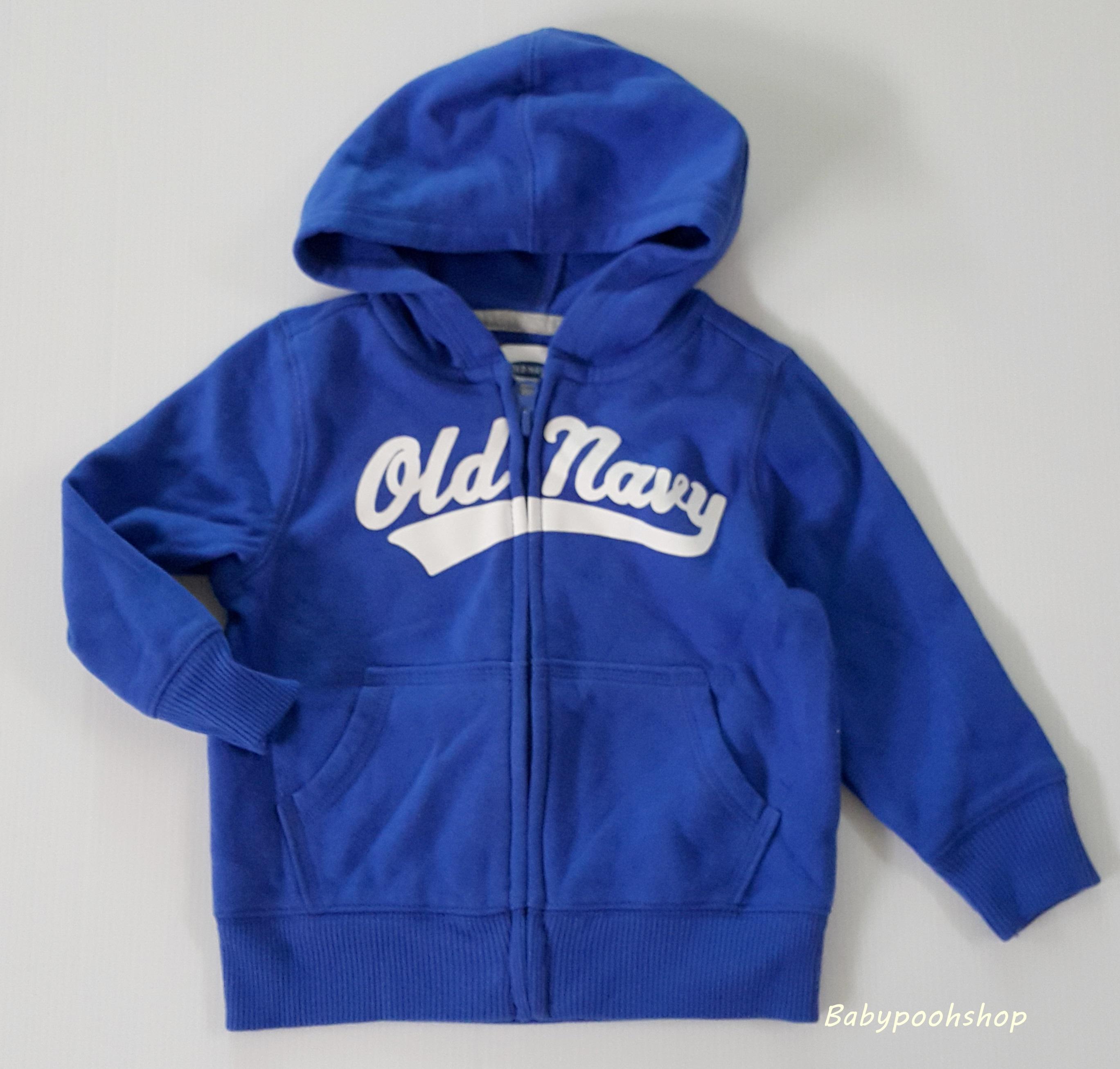 Old navy : เสื้อแจ็คเก็ทกันหนาว มีฮูด สีน้ำเงิน size 12-18m / 18-24m