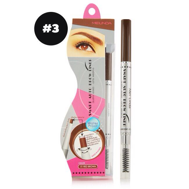 Mei Linda Smart Auto Brow Liner #No.3 : ฺblack