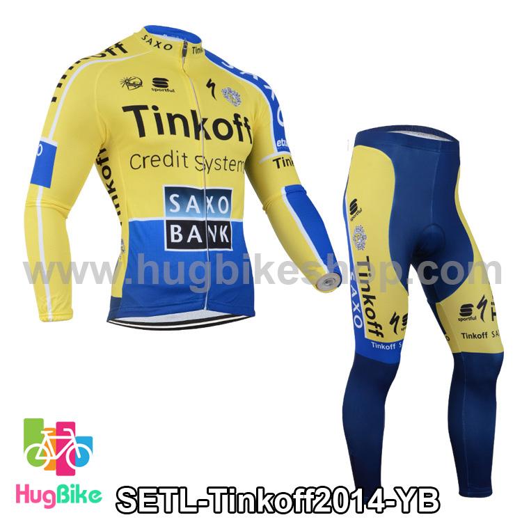 ชุดจักรยานแขนยาวทีม Tinkoff SAXO 14 สีเหลืองน้ำเงิน สั่งจอง (Pre-order)