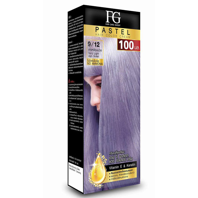 FG Pastel Hair Color Cream 9/12 เทาเหลือบม่วง Very Light Ash Violet
