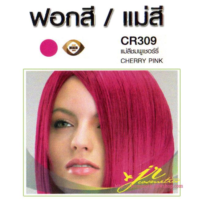 CR 309 แม่สีชมพูเชอร์รี่ (Cherry Pink) ดีแคช มาสเตอร์ คัลเลอร์ ครีม