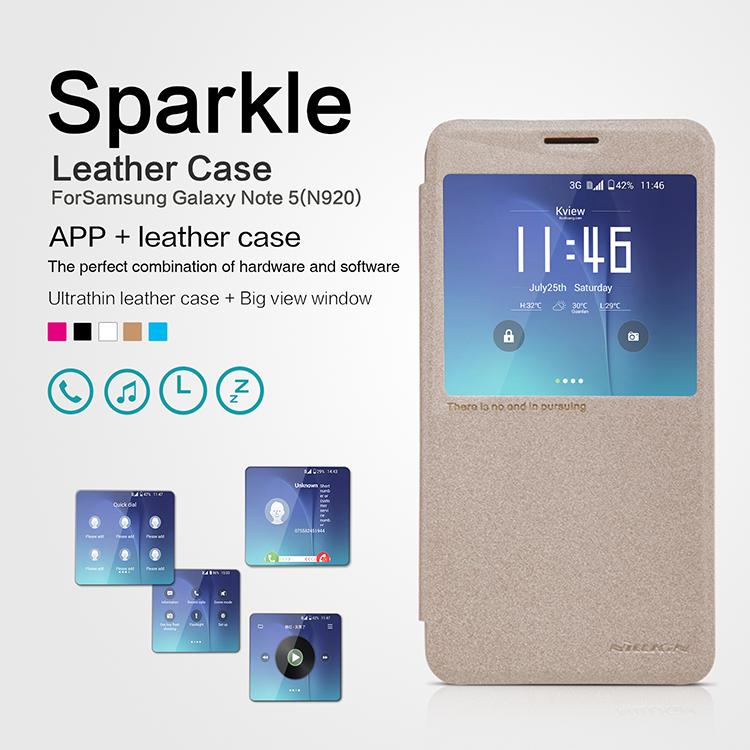 เคสมือถือ Samsung Galaxy Note 5 รุ่น Sparkle Leather Case