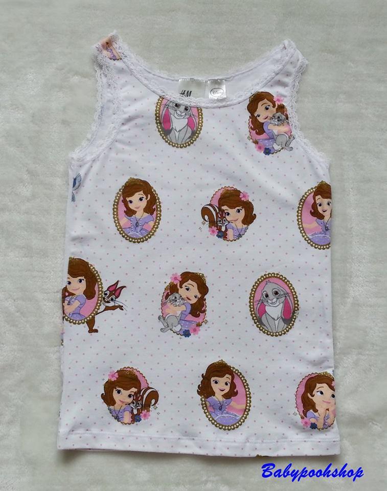 H&M : เสื้อกล้ามสกรีนลายเจ้าหญิงโซเฟีย size : 6-8y
