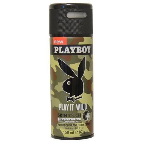 เพลย์บอย อิท ไวล์ด ดิโอแรนท์ บอดี้เสปรย์ สเปรย์ระงับกลิ่นกาย 150มล. (Playboy It Wild Deodorant Body Spray 150ml)