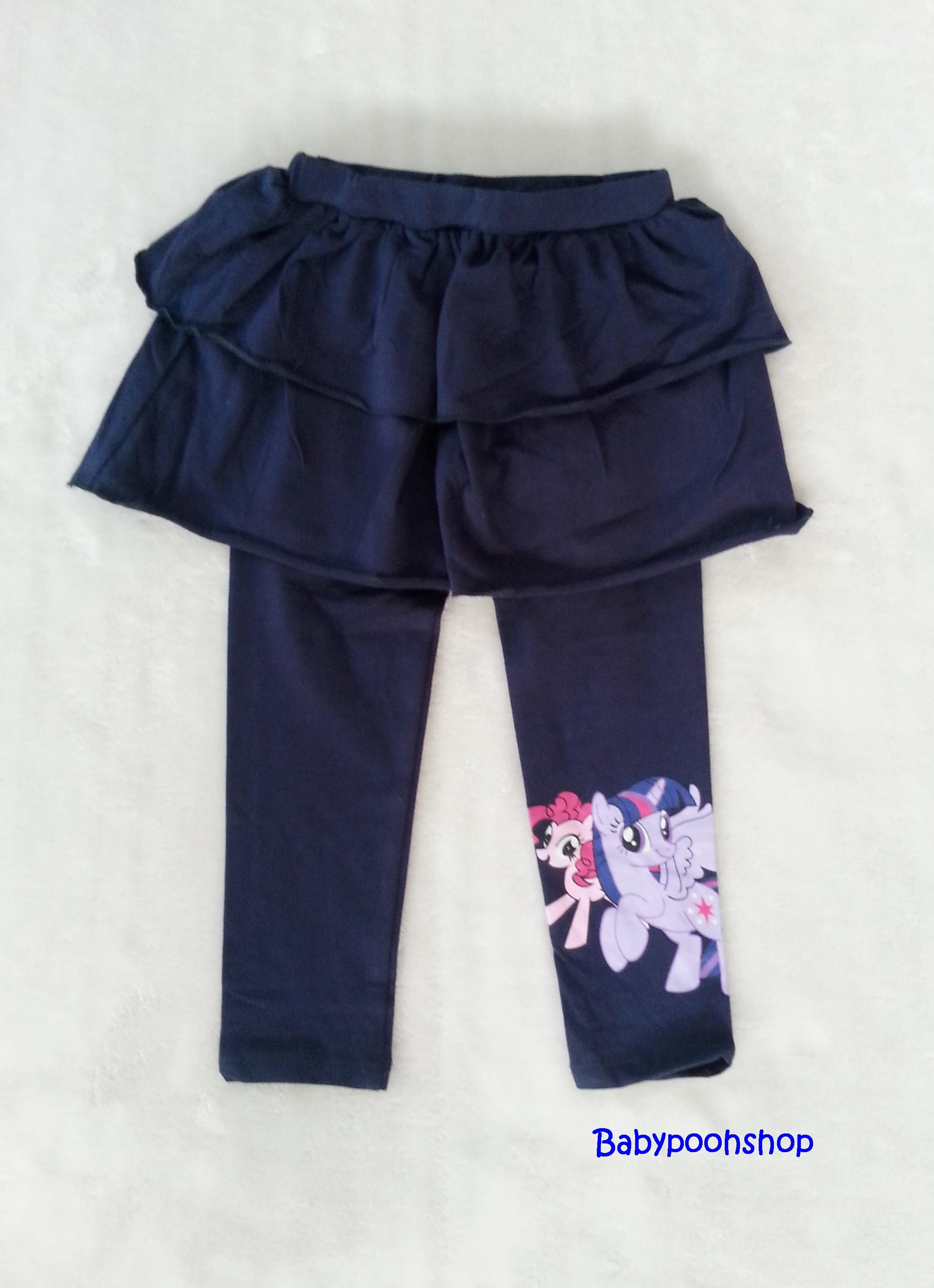 H&M : เลกกิ้งกระโปรงกางเกง สกรีนลายม้าโพนี่ ที่ปลายขา สีกรม size : 2-4y