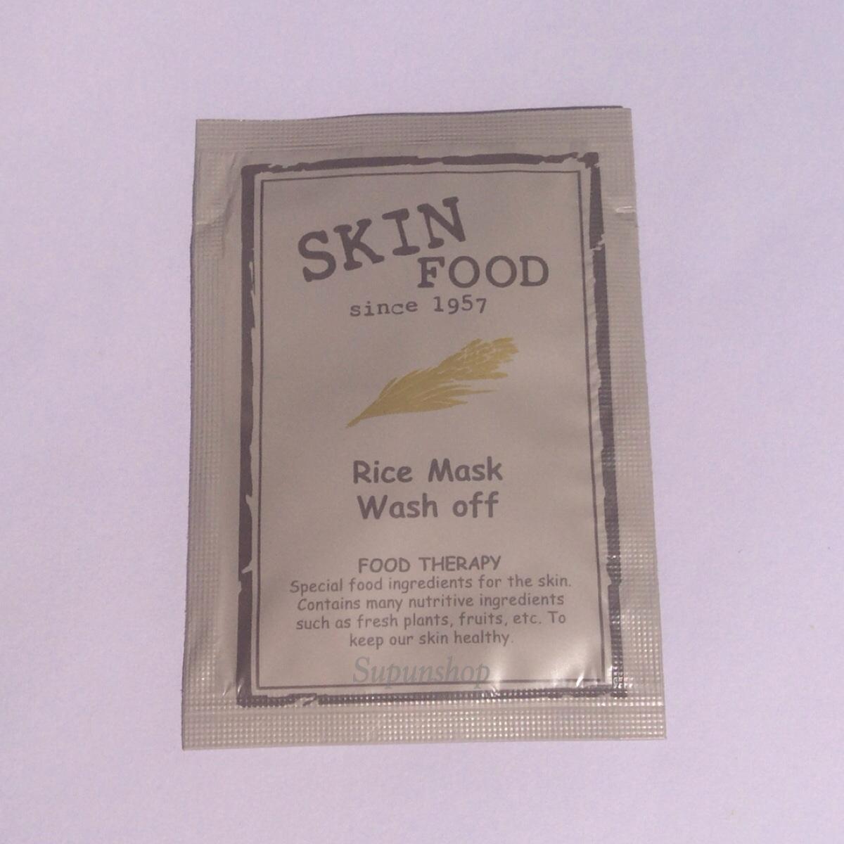++พร้อมส่ง++Skinfood Rice Mask Off Sample 6ml มาส์กข้าว