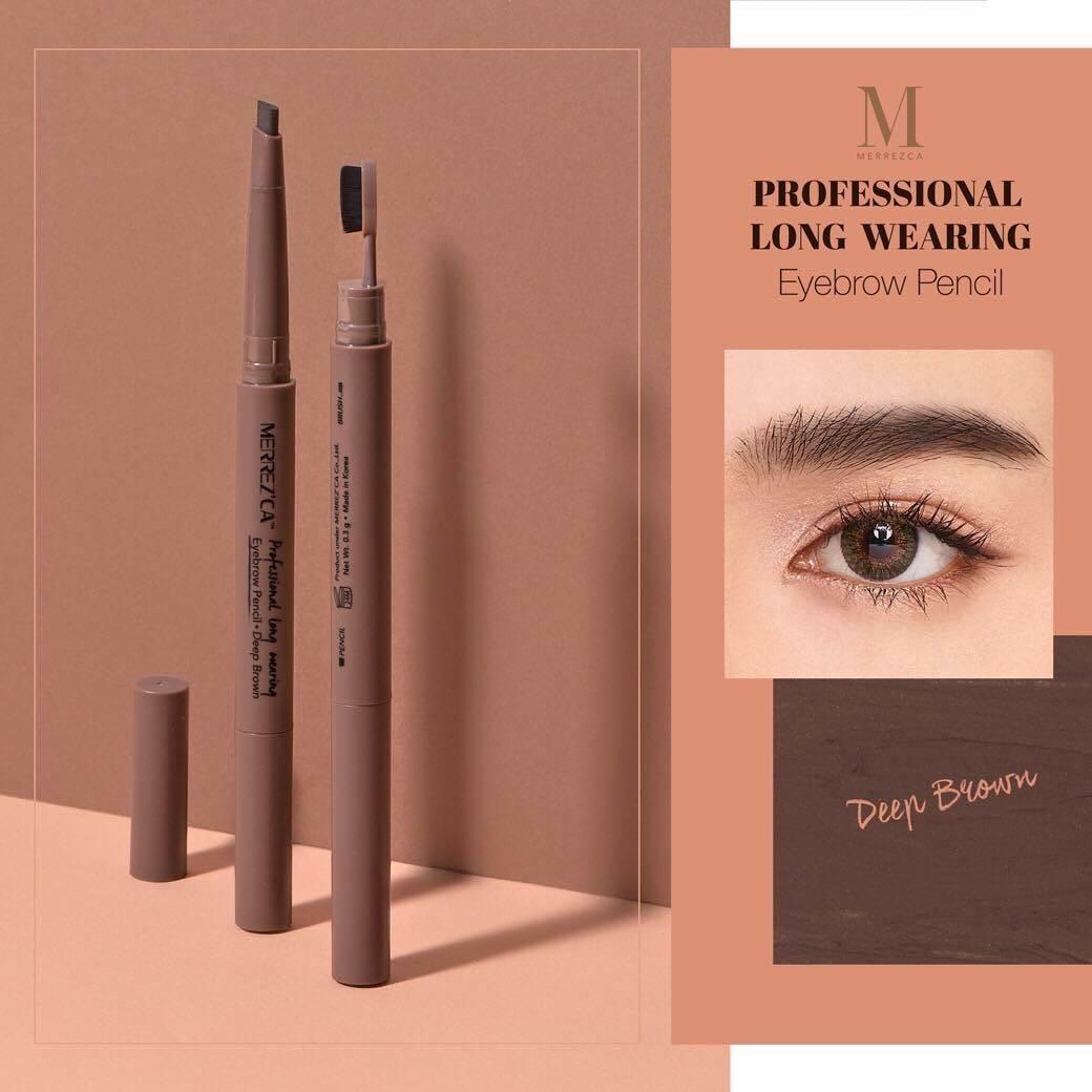 �ล�าร���หารู��า�สำหรั� merrezca professional long wearing & eyebrow pencil
