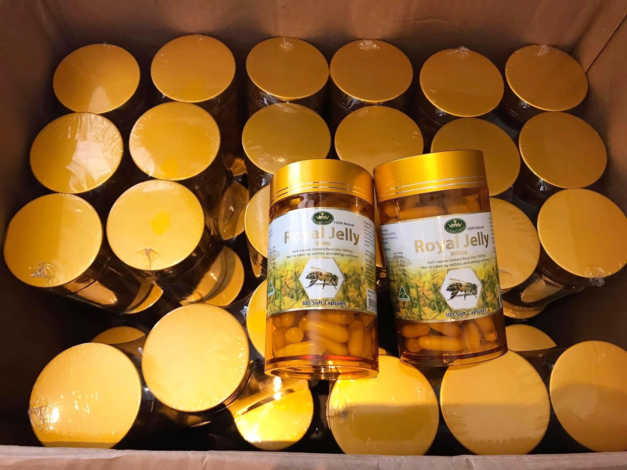 Nature's king royal jelly 1000mg นมผึ้งเนเจอร์คิง บรรจุ 100 เม็ด