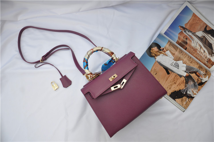 กระเป๋า hermes Kelly size 25 Purple