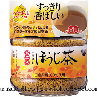 พร้อมส่ง ** AGF Blendy Hojicha Roasted Tea Powder ชาโฮจิ (ชาโฮจิคือชาเขียวอบมีกลิ่นหอม) ชาชั้นดีอุดมไปด้วยสารต้านอนุมูลอิสระ บำรุงสุขภาพและร่างกาย บรรจุในขวดแก้ว บรรจุ 48 กรัม ชงดื่มได้ประมาณ 60 แก้ว (แล้วแต่ปริมาณการชงแต่ละครั้ง) ชงได้ทั้งร้อนและเย็น