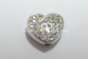 ตัวคั่นรูปหัวใจ สีเงิน