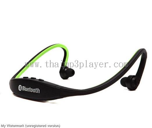 หูฟัง BlueTooth สำหรับการออกกำลังกาย สีเขียว