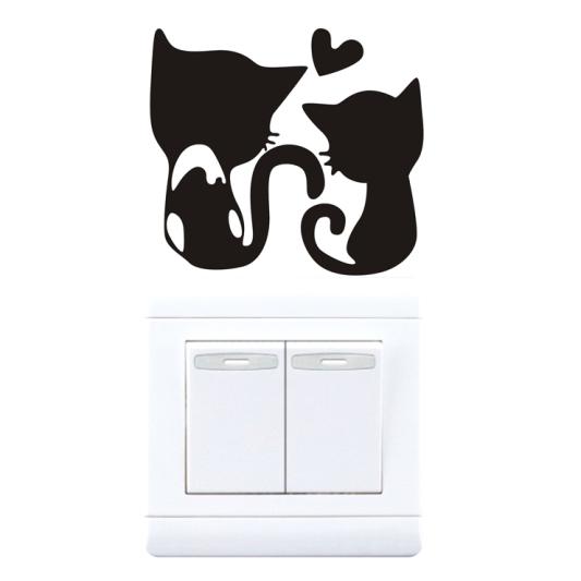 """สติ๊กเกอร์ติดปลั๊กไฟ """"Cat inLove""""ขนาดซองบรรจุ 15 x 12 cm"""