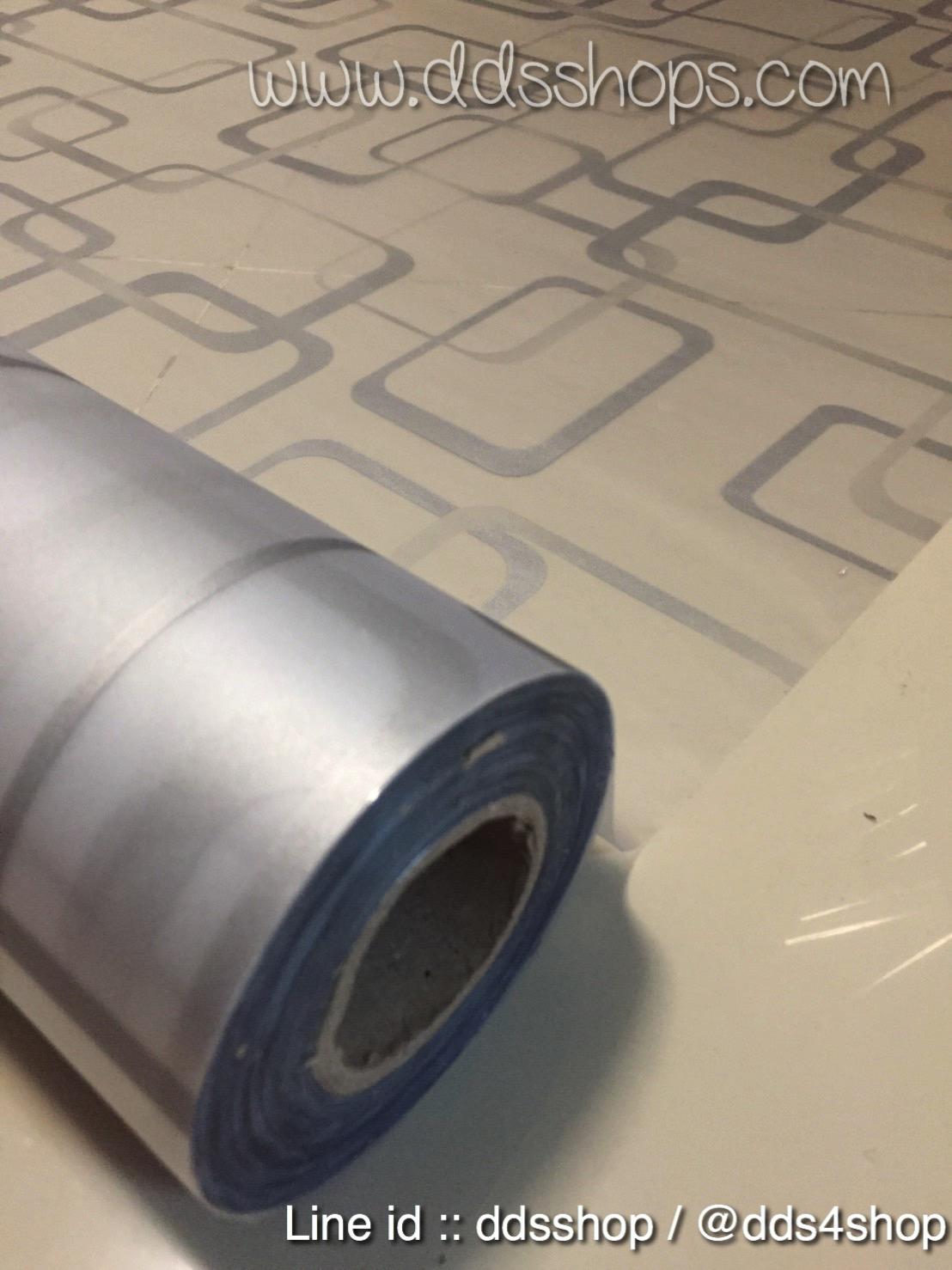 """สติ๊กเกอร์ติดกระจกแบบมีกาวในตัว """"Modern Gray Graphic"""" ความสูง 90 cm ตัดแบ่งขายเมตรละ 189 บาท (ขั้นต่ำ 3m)"""