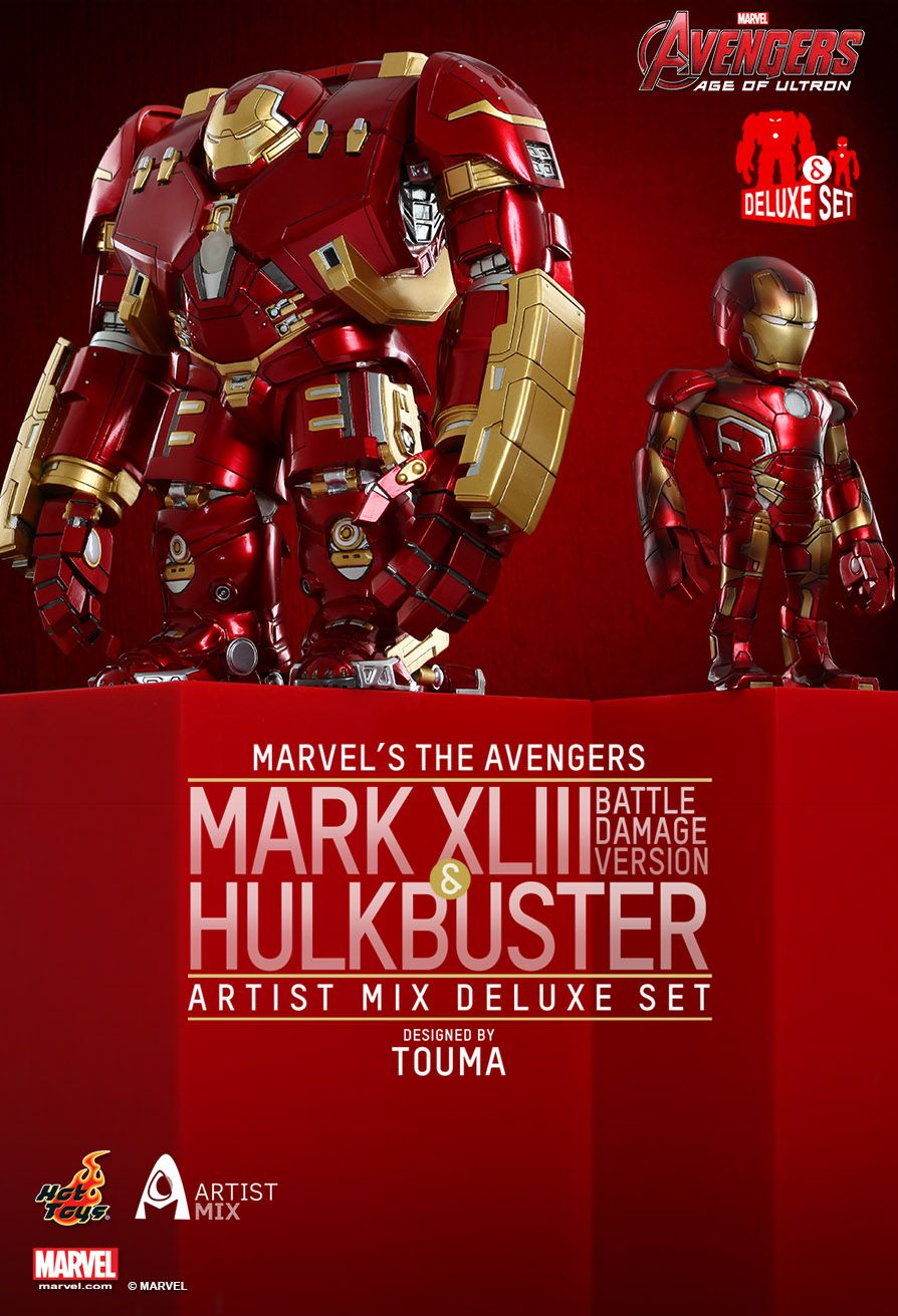 HOT TOYS AMC007 TOUMA MARK XLIII.BD.&HULKBUSTER