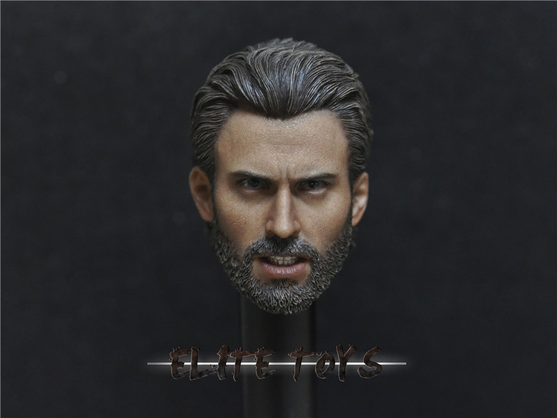 ELITE TOYS - Captain America Headsculpt Beard version
