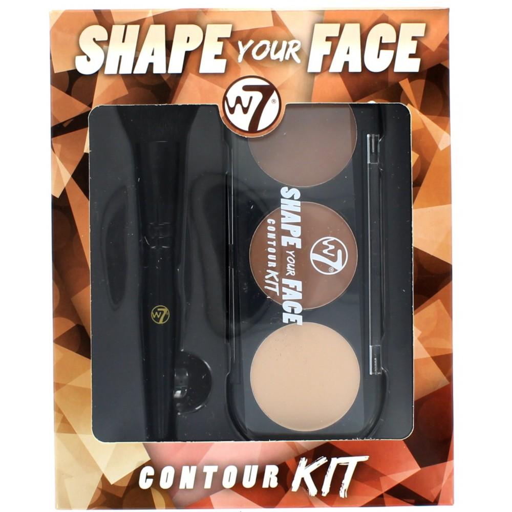**พร้อมส่ง**W7 Shape Your Face Contour Kit เซ็ทคอนทัวร์ 3 สี ทั้งสำหรับคอนทัวร์หน้า 2 เฉดสี และไฮไลท์ 1 สี ตกแต่งใบหน้าให้แลดูมีมิติมากยิ่งขึ้น มาพร้อม Contour Bronze Highlight และแปรงแต่งหน้าในตลับ พร้อมให้คุณสวยได้ในทันที ,