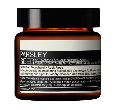 **พร้อมส่ง**Aesop Parsley Seed Anti-Oxidant Facial Hydrating Cream 60 ml. ครีมถนอมความชุ่มชื้นมีสูตรแอนตี้ อ๊อกซิแดนท์ ช่วยสร้างป้อมปราการให้แก่ผิว สูตรต้านอนุมูลอิสระสูตรเข้มข้น อุดมไปด้วยส่วนผสมที่ช่วยเสริมสร้างปราการและมอบความนุ่มละมุนสำหรับผิว ,
