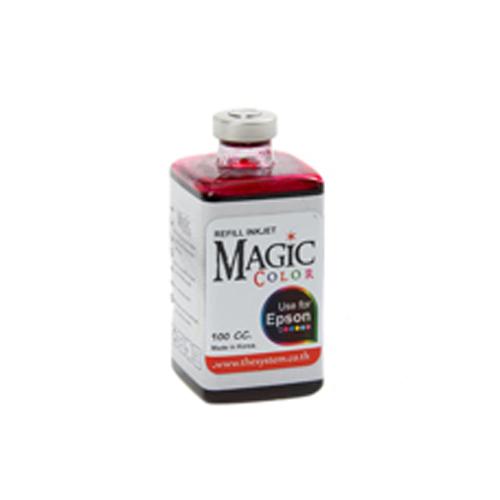 หมึกเติม Epson ยี่ห้อ Magic ขนาด 100 ml. สีดำ/แดง/น้ำเงิน/เหลือง