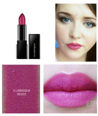 **พร้อมส่ง**ILLAMASQUA Lipstick ขนาดปกติ 4 g. # Resist สีชมพูอมม่วง เนื้อแมท คอลเลคชั่นใหม่จาก อีลลามาสก้า สินค้าแบรนด์ดังจากเกาะอังกฤษ ลิปสติกทรงคุณภาพที่สร้างความสดใสและสีสันสำหรับเมคอัพของคุณ เนื้อแน่น สีชัด ติดทนมากค่ะ , ILLAMASQUA Lipstick # Resist ส