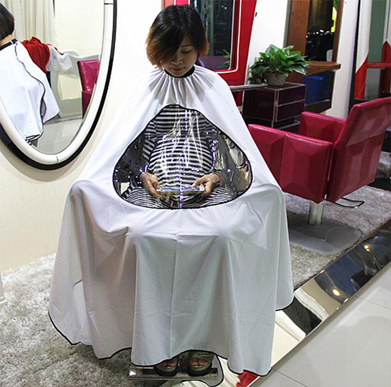 ผ้าคลุมตัดผม social media