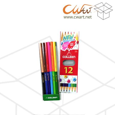 สีไม้Colleen2หัว 12สี/6แท่ง ยกกล่อง 24ชุด
