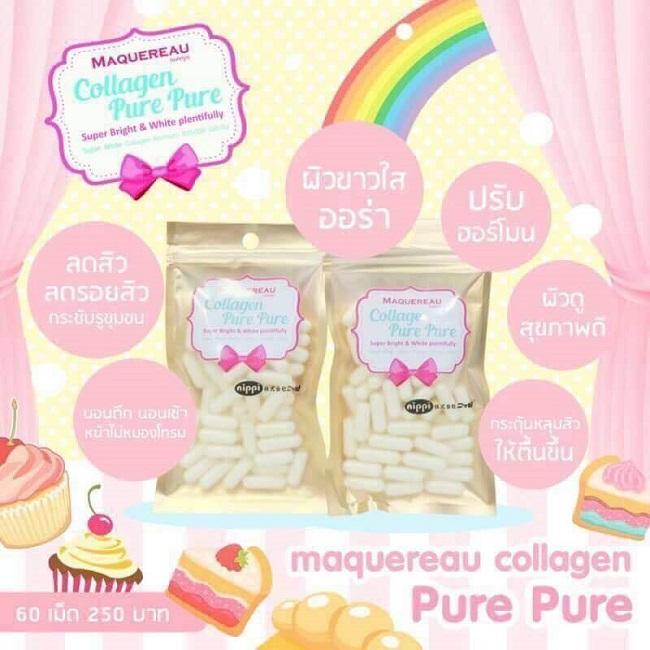 MAQUEREAU Collagen Pure Pure แมคครูล คอลลาเจน เพียว เพียว ทานอะไรก็ไม่ขาว ต้องลองตัวนี้