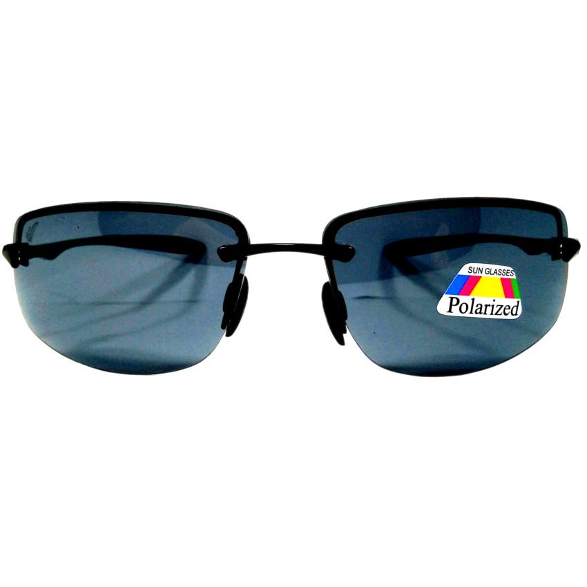 แว่นกันแดด โพลาไรซ์ กรอบไททาเนียม(ผสม) เลนส์ดำ