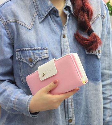 กระเป๋าสตางค์ผู้หญิง กระเป๋าตัง กระเป๋าสตางค์ กระเป๋าสตางค์ทรงยาว กระเป๋าสตางค์ใส่โทรศัพท์ได้