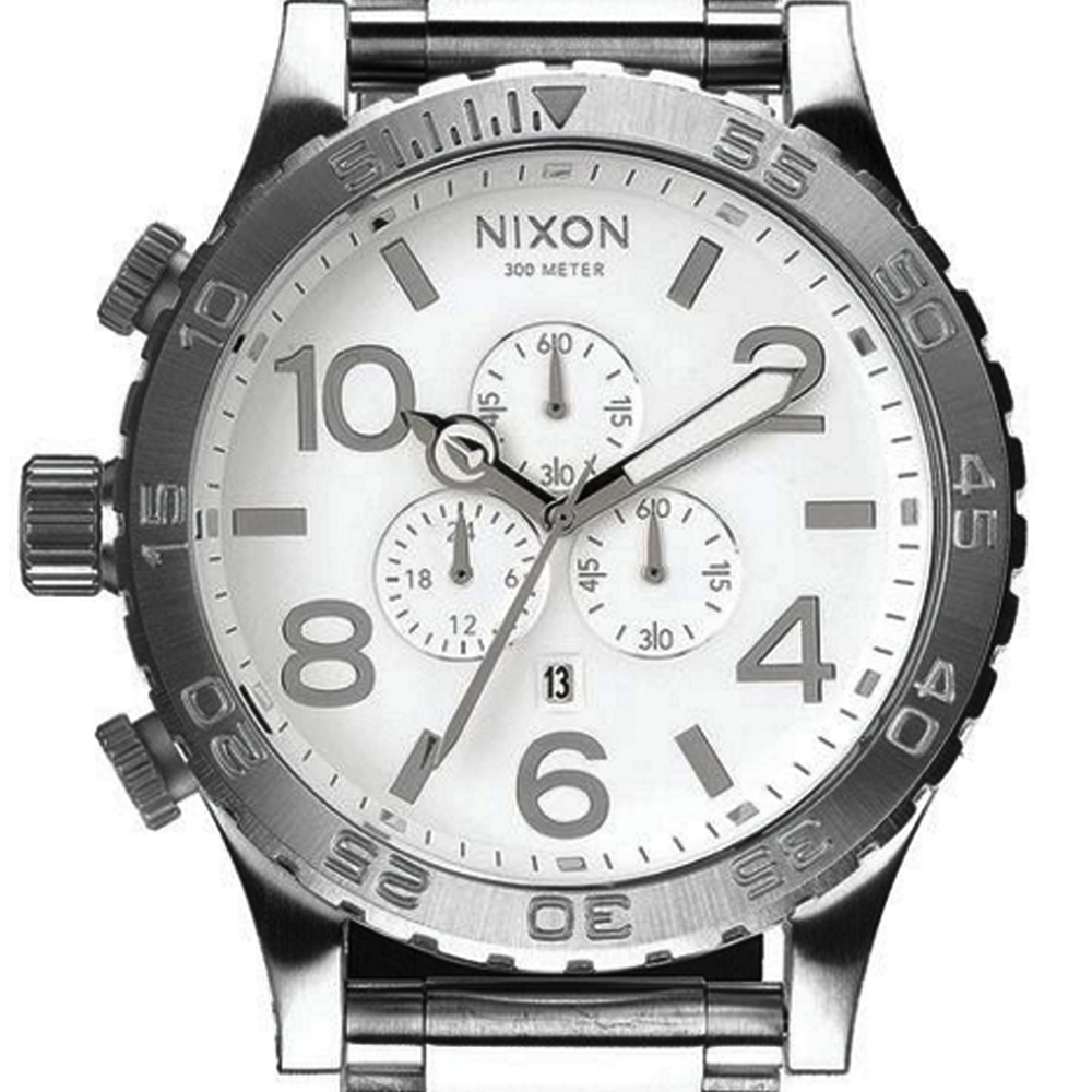 นาฬิกา NIXON Men Chronograph Chronograph White Dails Watch A083488 48-20