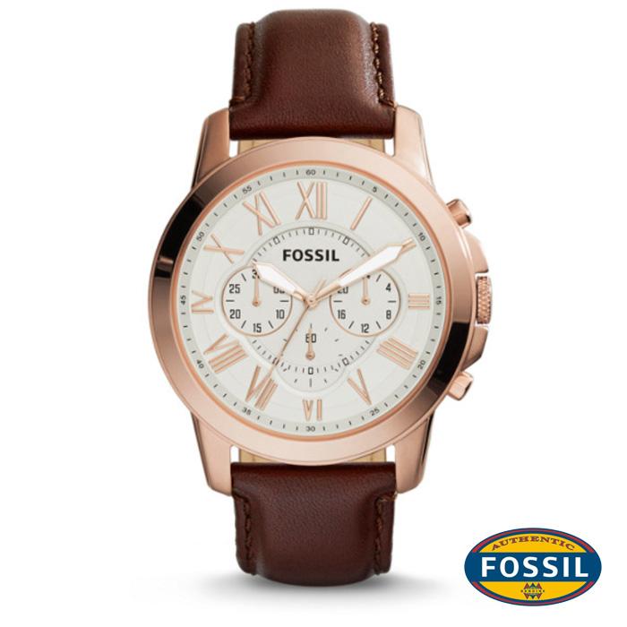นาฬิกา FOSSIL FS4991 Men Watch Chronograph Leather นาฬิกาสายหนัง Chronograph