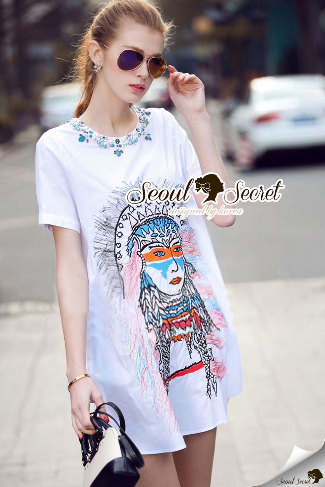 Seoul Secret Say's... Indiany Girly Gemmy Dress